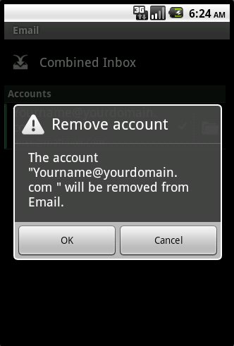 Android Remove Account Confirmation